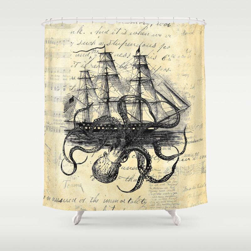 Kraken shower curtain - Kraken Shower Curtain 7