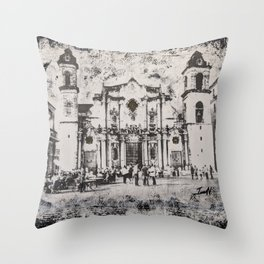 Havana Cathedral Throw Pillow