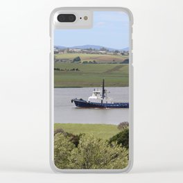 Tug Motoring Down the Tamar* Clear iPhone Case