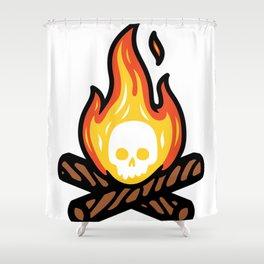 Skullfire Shower Curtain