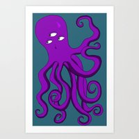 occult Art Prints featuring Occult Octopus by mystmoon