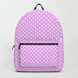 Tiny Paw Prints Pretty Pink Pattern Backpack