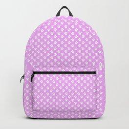 Tiny Paw Prints Pretty Pink Pattern Backpack