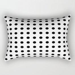 Black and white dots pattern Rectangular Pillow
