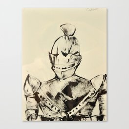 Knight, Painted with a Piece of Cardboard Canvas Print