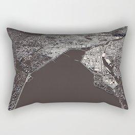 Geneva - city map Rectangular Pillow
