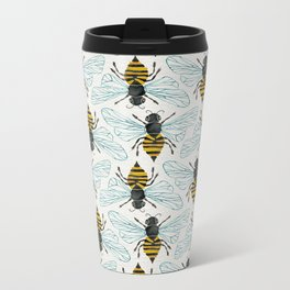 Honey Bee Metal Travel Mug