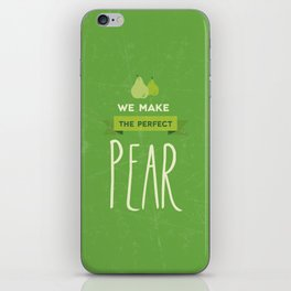 The perfect pear iPhone Skin