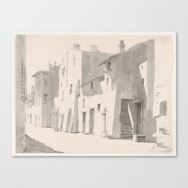A Sunny Street at Tivoli ,Thorald Læssøe Canvas Print