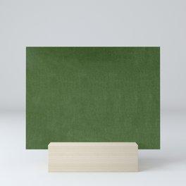 Sage Green Velvet texture Mini Art Print