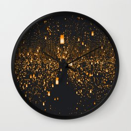 Golden Lights (Color) Wall Clock