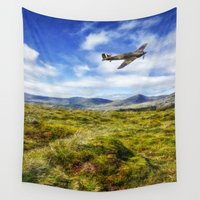 aviation Wall Tapestries featuring The Hurricane by Ian Mitchell