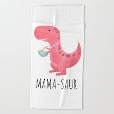 Mama-saur Beach Towel
