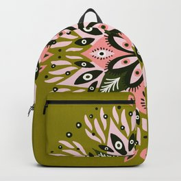Gazing Mandala – Sage & Pink Backpack