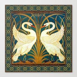 Walter Crane Swan Rush And Iris Canvas Print