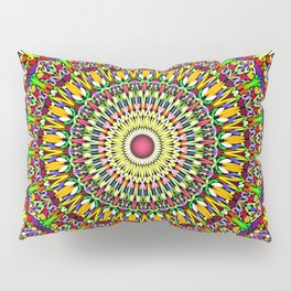 Happy Colorful Jungle Garden Mandala Pillow Sham