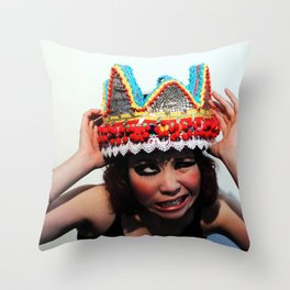 Don't You Dare Touch My Crown Throw Pillow