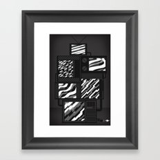 SSSTATIC Redux Framed Art Print