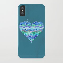 A Sea of Love (blue) iPhone Case