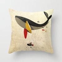 fly Throw Pillows featuring I believe i can fly by Riccardo Guasco
