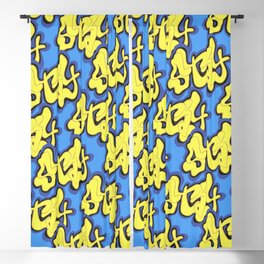 Stay Graffiti Pattern - Blue Honey Blackout Curtain