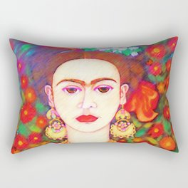 My other Frida Kahlo with butterflies Rectangular Pillow