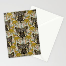 native mountain lion gold Stationery Cards