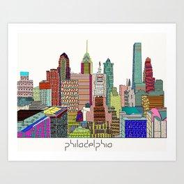 Philadelphia city sklyine Art Print