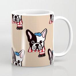 French Bulldog in Camel Baguette Coffee Mug