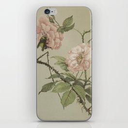 Vintage Flower and Bee iPhone Skin