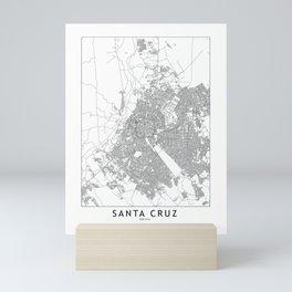 Santa Cruz White Map Mini Art Print