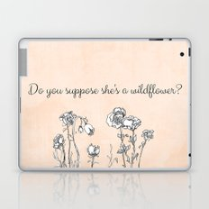 WILDFLOWER // ALICE IN WONDERLAND QUOTE Laptop & iPad Skin