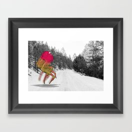 Unseen Monsters of Mount Shasta - Peawil Mousec Framed Art Print