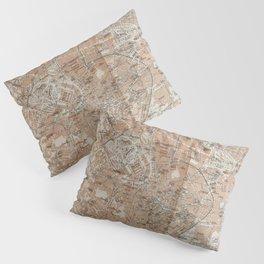 Milan, Italy / Milano, Italia antique map Pillow Sham