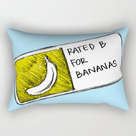 B for Bananas Rectangular Pillow