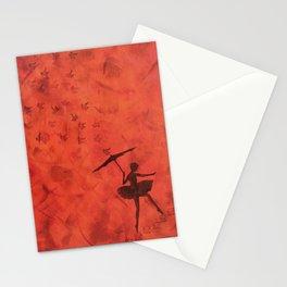 stencil ballerina Stationery Cards