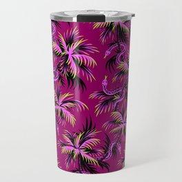 Snake Palms - Purple Travel Mug