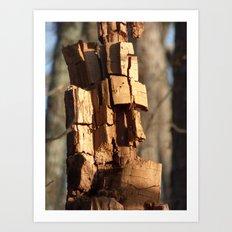stump moai Art Print