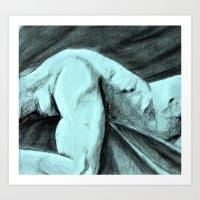 Man at rest Art Print