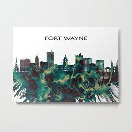 Fort Wayne Skyline Metal Print