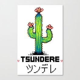 Tsundere Cactus Canvas Print