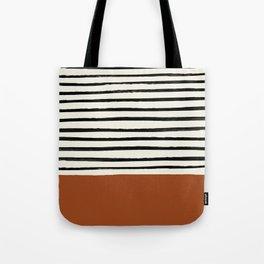 Burnt Orange x Stripes Tote Bag