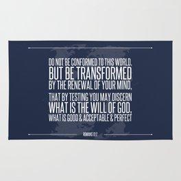 Romans 12:2 Rug