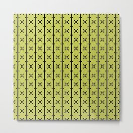 Squares and Stripes in Citrine #pattern #squares #stripes Metal Print