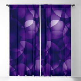 Dark intersecting blueberry translucent circles in bright colors with a mauve glow. Blackout Curtain