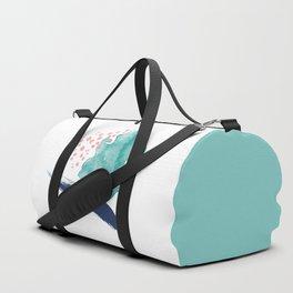 Coral and Sea Foam Duffle Bag