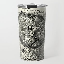 Vintage Anatomy The Left Orbit Bone Travel Mug