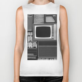 Everything Retro (Black and White) Biker Tank