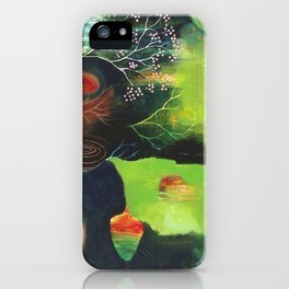 """Inner Whisper #1"" Original Painting by Flora Bowley iPhone Case"