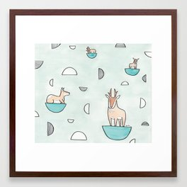 peninsular pronghorn Framed Art Print